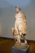 Greece, Athens, National Archaeology Museum. Statue of Hermes 2nd century CE