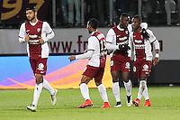 Joie Metz - Modibo MAIGA - 04.04.2015 - Metz / Toulouse - 31eme journee de Ligue 1 <br />Photo : Fred Marvaux / Icon Sport
