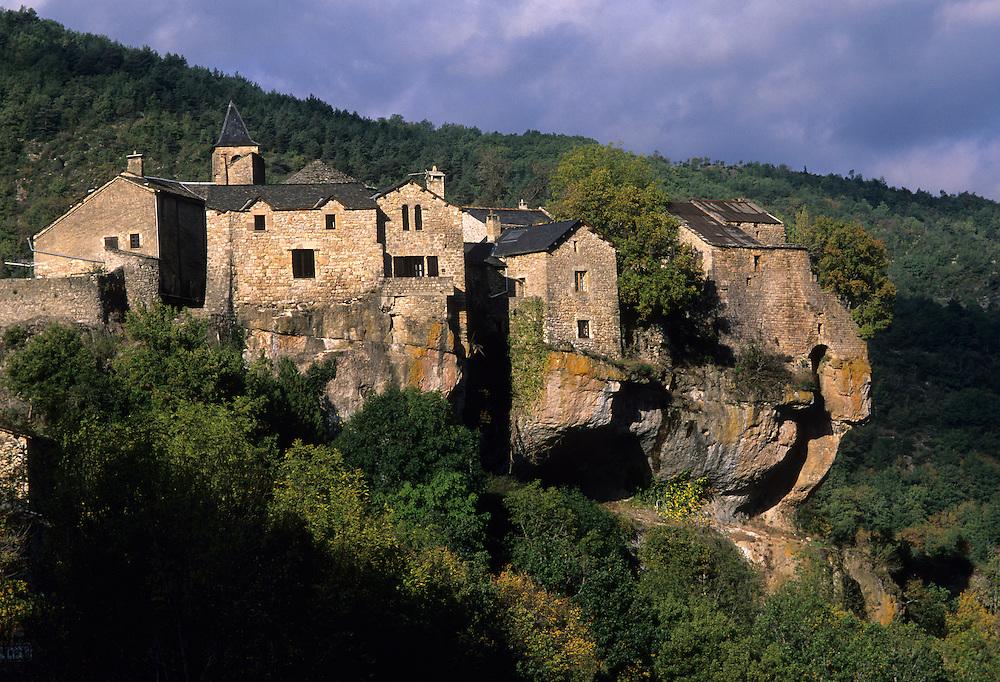France, Aveyron, Cevennes, village de Cantobre, région Dourbie