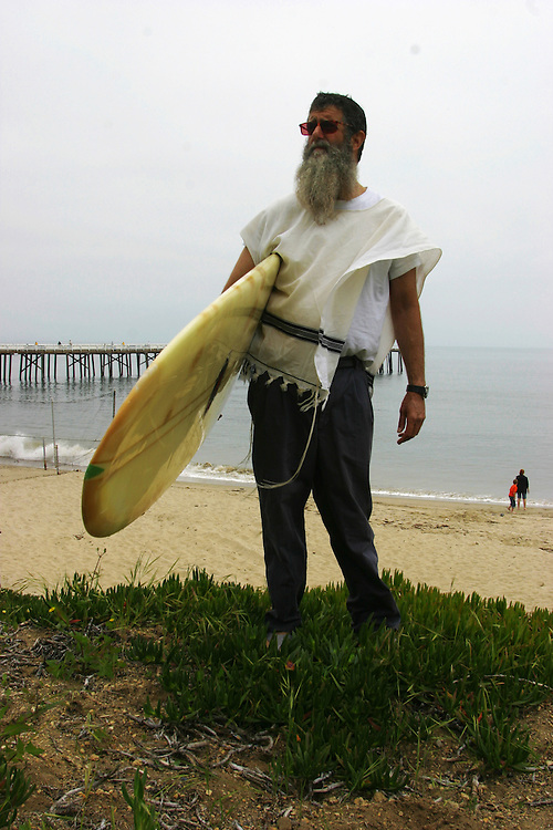 Rabbi Nachum Shifren 54 know as the Surfing Rabbi ..Born in L.A  in a Jewish family but was not a religion person he start to surf wean he was 12 years old and never stop he say surfing it like a disease that get in to you and never leave you... In 1987 Nachum start to keep the Jewish tradition and get in to the Kabala...He become to be known as the surfing rabbi,..He never stops surfing and got his on unik way to combine between Judaism and surfing.....Know Nachom teaching surfing and kabala and start to organized courses all around the world...Nachom living know in L.A in Venice beach and surfing in Malibu beach, he also have a hose in the settlement named Tpuach at the west bank in Israel...Own of his rabbi that Nachom follow is the fundamentalist Rabbi Kahana (that was murder in NY by a Palestinian and create the Jewish organization the J.D.L in the U.S.A)....Nachom combine it in his on special way of getting to know god throw the sea and the secret in the kabala...