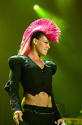 Pink performs live on stage at the Hallam FM Arena Sheffield England on her 'Try This Tour'<br /> <br /> March 27 2004