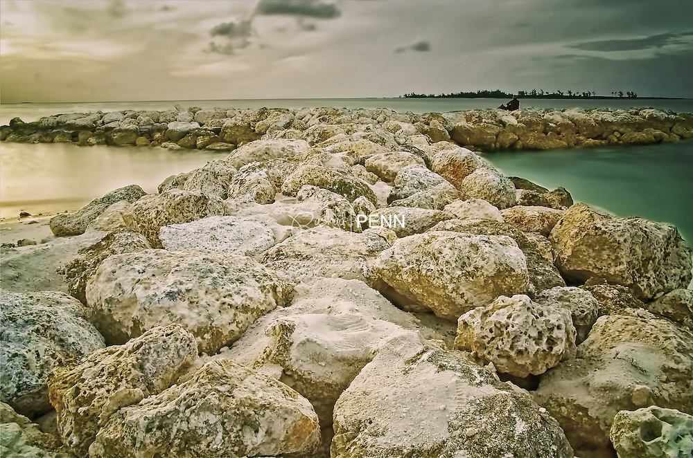 Large boulders used to keep the beach from erosion