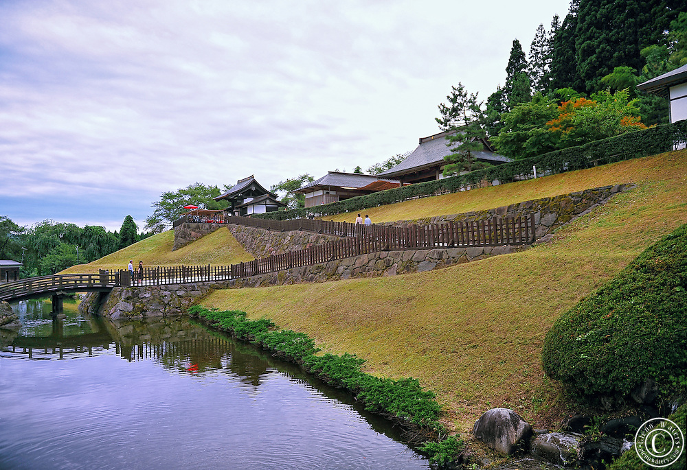 A Japanese Noh theater located in Akita, north west Japan. This is an outdoor theater based on the very old original noh theaters.