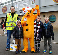 Picture by David Horn/Focus Images Ltd +44 7545 970036<br /> 16/11/2013<br /> Pudsey pays a visit to promote Children in Need at Sixfields before the Sky Bet League 2 match at Sixfields Stadium, Northampton.