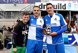 Wael Al-Qadi president of Bristol Rovers FC is presented with a trophy for his help in the Bristol Fan Derby - Mandatory by-line: Robbie Stephenson/JMP - 04/09/2016 - FOOTBALL - Memorial Stadium - Bristol, England - Bristol Rovers Fans v Bristol City Fans - Bristol Fan Derby