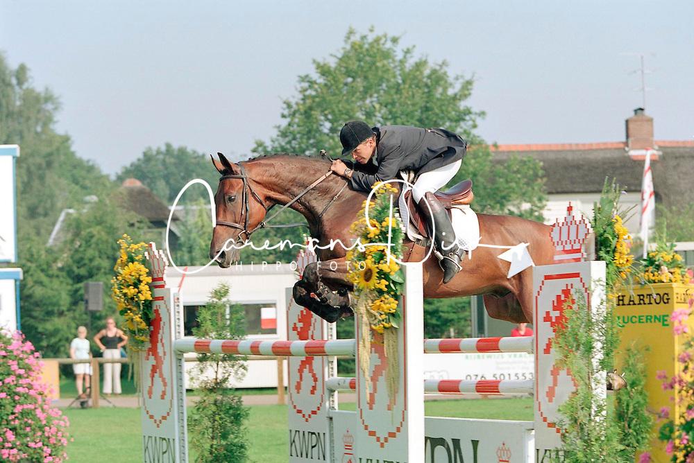 Van der Schans Wout Jan-Mylord<br />KWPN Paardendagen  Ermelo 2001<br />Photo &copy; Dirk Caremans