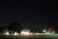 Middletown, N.Y. - Fog is visible on the ground and the Big Dipper can bee seen in the sky above Chorley Elementary School on the evening of Sept. 16, 2006.