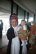Mrs. Gavin Burke and Carlotte Mahala ( 'Lotte) . The hon Nicholas Soames. Glorious Goodwood. 27 July 2005. ONE TIME USE ONLY - DO NOT ARCHIVE  © Copyright Photograph by Dafydd Jones 66 Stockwell Park Rd. London SW9 0DA Tel 020 7733 0108 www.dafjones.com