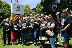 "Auckland-St Johns Ambulance staff have ""tea cup"" protest, Mt Wellington"