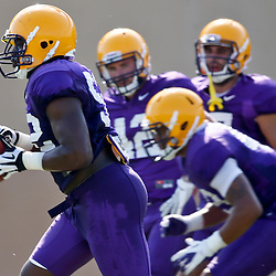 Aug 8, 2013; Baton Rouge, LA, USA; LSU Tigers linebacker Kendell Beckwith (52) during a fall practice at the McClendon Practice Facility. Mandatory Credit: Derick E. Hingle-USA TODAY Sports