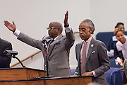 Rev. Al Sharpton is introduced to speak during a healing service at Charity Missionary Baptist Church April 12, 2015 in North Charleston, South Carolina. Sharpton spoke following the recent fatal shooting of unarmed motorist Walter Scott police and thanked the Mayor and Police Chief for doing the right thing in charging the officer with murder.