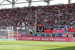 17.05.2015, Audi Sportpark, Ingolstadt, GER, 2. FBL, FC Ingolstadt 04 vs RB Leipzig, 33. Runde, im Bild Fankurve FC Ingolstadt // during the 2nd German Bundesliga 33th round match between FC Ingolstadt 04 and RB Leipzig at the Audi Sportpark in Ingolstadt, Germany on 2015/05/17. EXPA Pictures &copy; 2015, PhotoCredit: EXPA/ Eibner-Pressefoto/ Strisch<br /> <br /> *****ATTENTION - OUT of GER*****