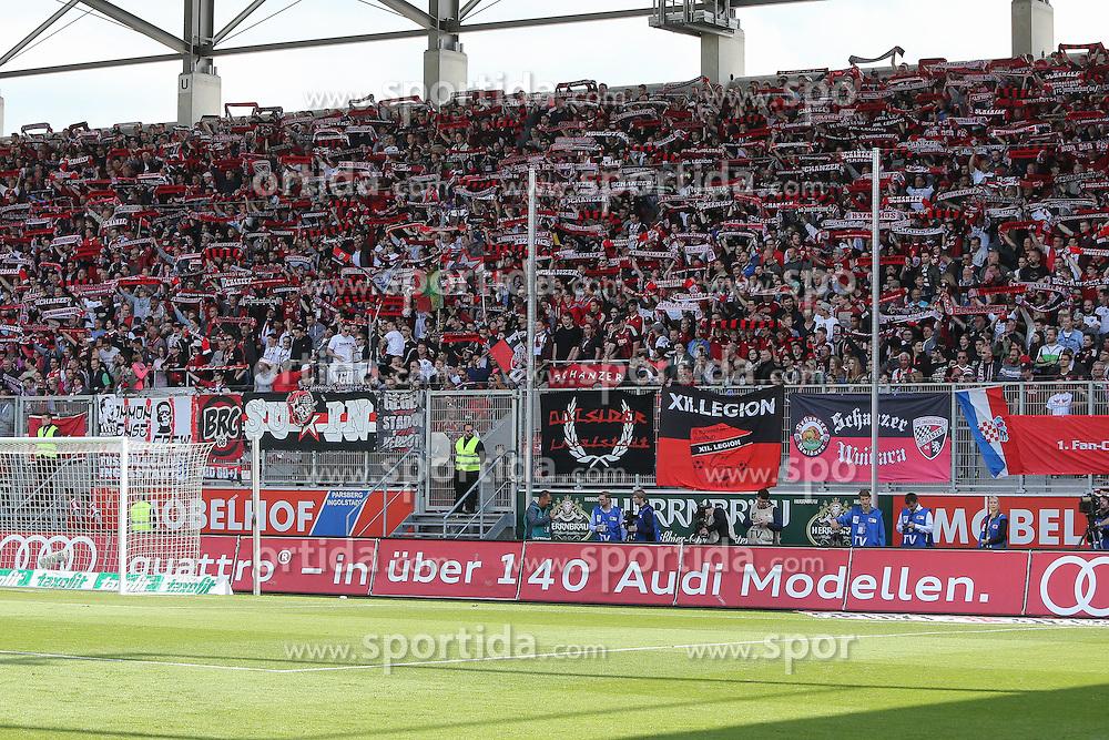 17.05.2015, Audi Sportpark, Ingolstadt, GER, 2. FBL, FC Ingolstadt 04 vs RB Leipzig, 33. Runde, im Bild Fankurve FC Ingolstadt // during the 2nd German Bundesliga 33th round match between FC Ingolstadt 04 and RB Leipzig at the Audi Sportpark in Ingolstadt, Germany on 2015/05/17. EXPA Pictures &copy; 2015, PhotoCredit: EXPA/ Eibner-Pressefoto/ Strisch<br /> <br /> *****ATTENTION - OUT of GER*****
