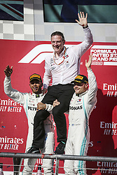 November 3, 2019, Austin, United States of America: Motorsports: FIA Formula One World Championship 2019, Grand Prix of United States, ..#44 Lewis Hamilton (GBR, Mercedes AMG Petronas Motorsport), James Allison (Mercedes AMG Petronas Motorsport), #77 Valtteri Bottas (FIN, Mercedes AMG Petronas Motorsport) (Credit Image: © Hoch Zwei via ZUMA Wire)