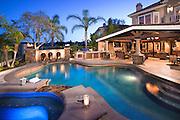 Outdoor Living with Salt Water Custom Pool
