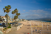 Beach Volleyball Courts on the Shoreline of Manhattan Beach California