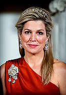 Queen Maxima offer an state banquet to Jorge Carlos de Almeida Fonseca, president of Kaapverdie Cape Verde in the Royal Palace in Amsterdam, The Netherlands, 10 December 2018.  COPYRIGHT ROBIN UTRECHT