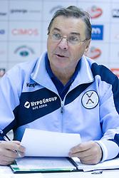Head coach Miro Pozun at press conference of Handball Men National Team of Slovenia before match with Bolgaria,  on November 24, 2008 in RZS, Ljubljana, Slovenia.  (Photo by Vid Ponikvar / Sportida)