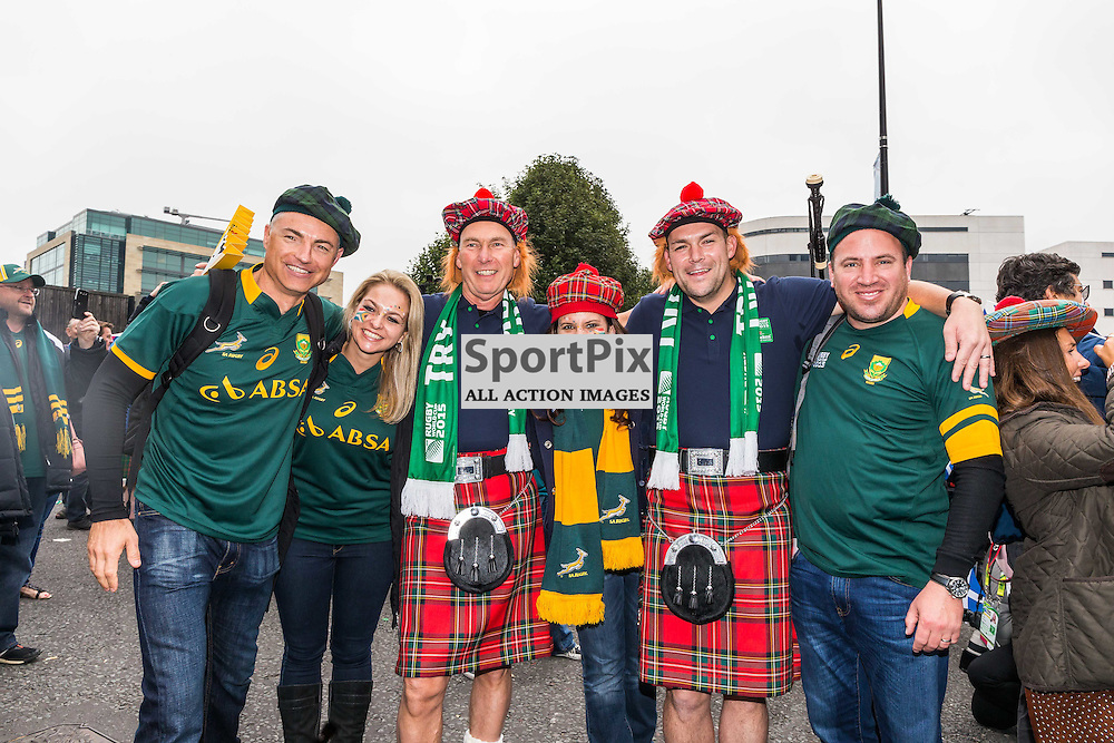 Fans outside the stadium before the Rugby World Cup match between Scotland and South Africa (c) ROSS EAGLESHAM | Sportpix.co.uk