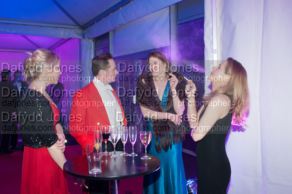 EMILY HANNIFFY; MAJ NEIL CROSS; SARAH FITZPATRICK; KATIE ROBINSON, Quorn Hunt Ball, Stanford Hall. Standford on Soar. 25 January 2014