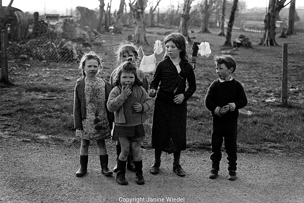 Irish Travellers on the road in Ireland in the 1970's