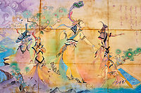 Mongolie, Oulan Bator, peintures murales // Mongolia, Oulan Bator, wall painting