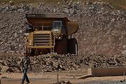 Jeacaba_MG, Brasil...Caminhao em um canteiro de obras...The truck in a construction...Foto: VICTOR SCHWANER / NITRO