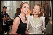 MAUREEN FOOTER; EVS DUGDALE-PENOT, Nicky Haslam hosts a party to launch a book by  Maureen Footer 'George Stacey and the Creation of American Chic' . With a foreword by Mario Buatta. Kensington. London. 11 June 2014