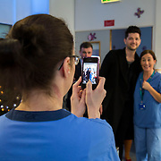 25/12/2014<br /> Special visitors on Christmas Day in Temple Street Children&rsquo;s Hospital<br /> Danny from the Script makes little kid&rsquo;s Christmas with hospital visit.<br /> Danny O&rsquo;Donoghue showed a heart of gold when he turned up at Temple Street&rsquo;s Children&rsquo;s Hospital on Christmas Day. The Script&rsquo;s frontman spent a number of hours on Christmas morning visiting children at their bedside along with Santa, the Lord Mayo.&nbsp;Last year, almost 400 children were cared for in Temple Street on Christmas Eve and Christmas Day &amp; a visit from Danny helped bring the magic of Christmas to Temple Street for the children and babies who are too ill or weak to make it home. Danny said of his work with Temple Street &ldquo;It&rsquo;s amazing to be involved with Temple Street, it&rsquo;s the greatest hospital on the planet. It&rsquo;s really humbling to see the children, families, doctors and nurses in Temple Street; they are all true superheroes.&quot;<br /> Pic: Alan Rowlette Photography<br /> -ENDS-