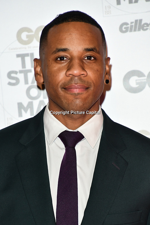 Reggie Yates Arrivers at GQ 30th Anniversary celebration at Sushisamba, The Market, Convent Garden on 29 October 2018.
