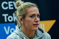 06–01-2020 NED: CEV Tokyo Volleyball European Qualification Women, Apeldoorn<br /> Press moment and representatives of the eight national teams for one spot Tokyo 2020 / Maret Balkestein-Grothues #6 of Netherlands