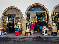 CASABLANCA, MOROCCO - CIRCA APRIL 2018: Street around the Bazar Habous Market in Casablanca.