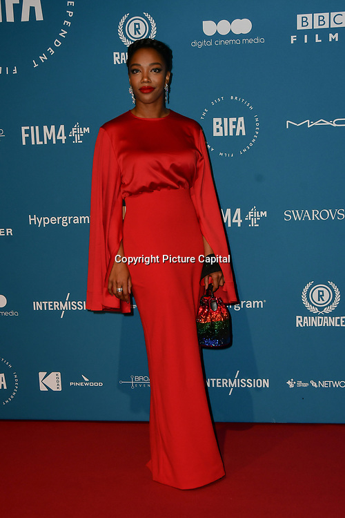 Naomi Ackie Arrivers at The 21sh British Independent Film Awards at 1 Old Billingsgate Walk on 21 December 2018, London, UK.