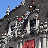 TOLUCA, México.- (Septiembre 14, 2018).- Se encuentra lista la campaña para dar el Grito de Independencia en Palacio de Gobierno la noche del 15 de septiembre. Agencia MVT / Crisanta Espinosa.