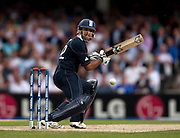 Ravi Bopara, four off Jerome Taylor, during the ICC World Twenty20 Cup match between West Indies and England at The Oval. Photo © Graham Morris (Tel: +44(0)20 8969 4192 Email: sales@cricketpix.com)