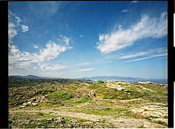 Cap de Creus, Girona, Spain<br /> Two kikers walking at the National Park of Cap de Creus.&copy;Carmen Secanella