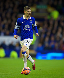 LIVERPOOL, ENGLAND - Saturday, January 4, 2014: Everton's John Stones in action against Queens Park Rangers during the FA Cup 3rd Round match at Goodison Park. (Pic by David Rawcliffe/Propaganda)
