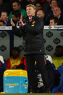 David Moyes Manager of Manchester United gives instructions during the Barclays Premier League match at Selhurst Park, London<br /> Picture by David Horn/Focus Images Ltd +44 7545 970036<br /> 22/02/2014