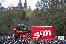 T in the Park Roadshow with The View at the first performance at Kelvingrove Park..© Michael Schofield..