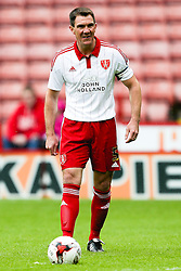 Former Sheffield United captain, Chris Morgan in action during his testimonial match - Mandatory by-line: Matt McNulty/JMP - 26/07/2015 - SPORT - FOOTBALL - Sheffield,England - Bramall Lane - Sheffield United v Newcastle United - Pre-Season Friendly