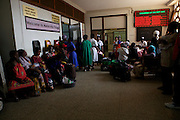 A busy waiting area in Mulago hospital, Uganda.<br /> <br /> Much is written about the number of babies born at Mulago National Referral Hospital – around 30,000 a year which averages between 80 and 85 every day. <br /> <br /> The pressure this puts on the hospital, which has bed capacity for fewer than half this number, is intensive. Yet much of this pressure could be eased if the capacity of smaller hospitals and health centres was developed.