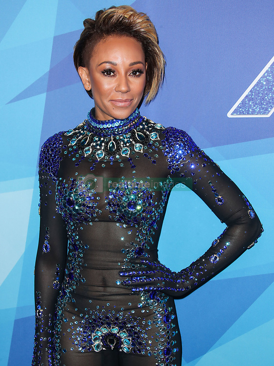 Mel B wearing a bejewelled sheer sequined bodysuit arrives at NBC's 'America's Got Talent' Season 12 Live Show held at Dolby Theatre on August 15, 2017 in Hollywood, California. 15 Aug 2017 Pictured: Mel B, Melanie Brown. Photo credit: IPA/MEGA TheMegaAgency.com +1 888 505 6342