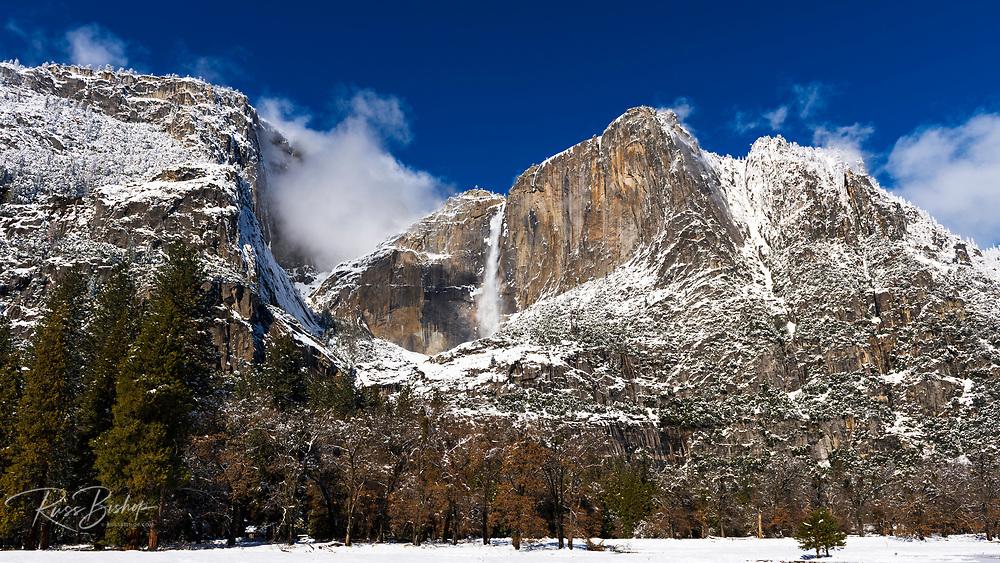 Yosemite Falls after a winter storm, Yosemite National Park, California USA