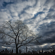 Clouds over Central Park, New York City.