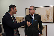 OMAR CASTENEDA,; NESTOR OSORIO COLUMBIAN AMBASSADOR TO THE UK The New Face of Colombia, VIP Opening Party. Bermondsey Project Space. London. 9 November 2016