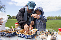 The Jackson Park Advisory Council celebrated International Migratory Bird Day Saturday, May 6th, 2017 in Jackson Park with family activities like bird watching, a scavenger hunt and bird house making.<br /> <br /> 3598 &ndash; Dawn Posey and Isaiah Granger make a bird house Saturday afternoon in Jackson Park.<br /> <br /> Please 'Like' &quot;Spencer Bibbs Photography&quot; on Facebook.<br /> <br /> All rights to this photo are owned by Spencer Bibbs of Spencer Bibbs Photography and may only be used in any way shape or form, whole or in part with written permission by the owner of the photo, Spencer Bibbs.<br /> <br /> For all of your photography needs, please contact Spencer Bibbs at 773-895-4744. I can also be reached in the following ways:<br /> <br /> Website &ndash; www.spbdigitalconcepts.photoshelter.com<br /> <br /> Text - Text &ldquo;Spencer Bibbs&rdquo; to 72727<br /> <br /> Email &ndash; spencerbibbsphotography@yahoo.com