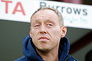 Swansea City manager Steve Cooper during the EFL Sky Bet Championship match between Barnsley and Swansea City at Oakwell, Barnsley, England on 19 October 2019.