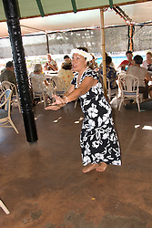 Hawaii: Molokai, Friday night kupuna night entertainment by locals at the Hotel Molokai, with singers, ukulele strummers, hula dancers, and good food and drink. .Photo himolo175-71760..Photo copyright Lee Foster, www.fostertravel.com, lee@fostertravel.com, 510-549-2202