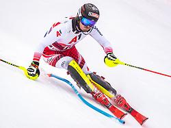 26.01.2020, Streif, Kitzbühel, AUT, FIS Weltcup Ski Alpin, Slalom, Herren, im Bild Manuel Feller (AUT) // Manuel Feller of Austria in action during his run in the men's Slalom of FIS Ski Alpine World Cup at the Streif in Kitzbühel, Austria on 2020/01/26. EXPA Pictures © 2020, PhotoCredit: EXPA/ Johann Groder