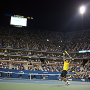 Rafael Nadal, Spain, in action against Fernando Gonzalez, Chile, during the US Open Tennis Tournament at Flushing Meadows, New York, USA, on Thursday, September 10, 2009. Photo Tim Clayton.